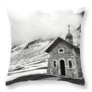 Chapelle Des Aravis Throw Pillow
