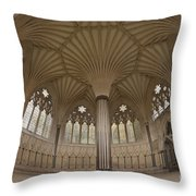 Chapter House, Wells Cathedral, Somerset Uk Throw Pillow