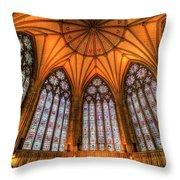 Chapter House York Minster Throw Pillow