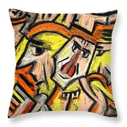 Characters By Rafi Talby Throw Pillow