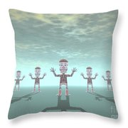 Characters Made Of Stone Throw Pillow