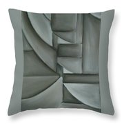 Charcoal Abstract Throw Pillow