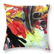 Charcoal Drawing Throw Pillow