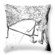 Charcoal Gray Throw Pillow
