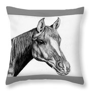 Charcoal Horse Throw Pillow