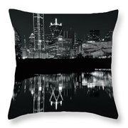 Charcoal Night In Dallas Throw Pillow