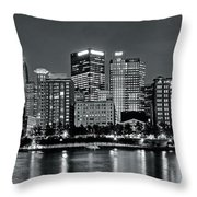 Charcoal Panoramic In Pittsburgh 2017 Throw Pillow