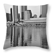 Charcoal Tampa Throw Pillow