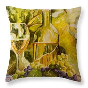 Chardonnay At The Vineyard Throw Pillow