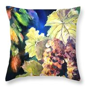 Chardonnay Vines Throw Pillow