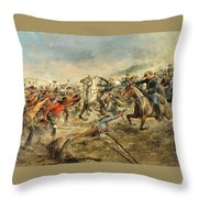Charge Of The Seventh Cavalry Throw Pillow