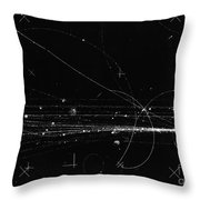 Charged Particles, Bubble Chamber Event Throw Pillow