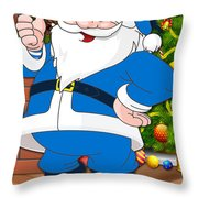 Chargers Santa Claus Throw Pillow