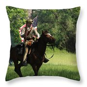 Charging Through Throw Pillow