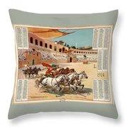 Chariot Races To Byzantium Throw Pillow