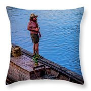 Charles Anderson On The Walkboard 1077vt Throw Pillow