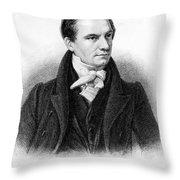 Charles Babbage, English Computer Throw Pillow