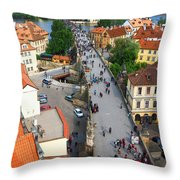 Charles Bridge Throw Pillow