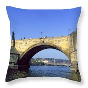 Charles Bridge, Prague Throw Pillow