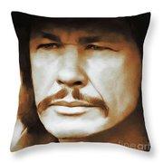 Charles Bronson, Hollywood Legend Throw Pillow
