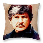 Charles Bronson, Movie Legend Throw Pillow
