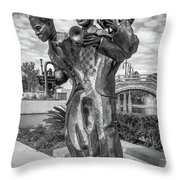Charles Buddy Bolden - New Orleans - Bw Throw Pillow