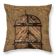Charles Goodnight Barn Doors Throw Pillow