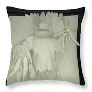 Charles Hall - Creative Arts Program -spirits Of The Plains Throw Pillow