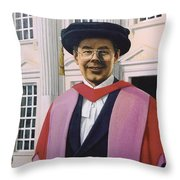 Charles Harpum Receiving Doctorate Of Law Throw Pillow