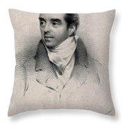Charles Hatchett, English Chemist Throw Pillow