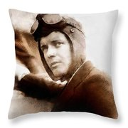 Charles Lindbergh, Aviator Throw Pillow