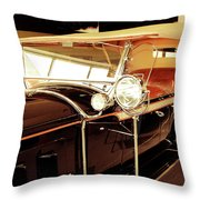 Charles Lindberg's 1927 Packard Throw Pillow