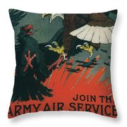 Join The Army Air Service Throw Pillow