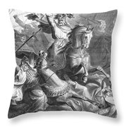 Charles Martel, Battle Of Tours, 732 Throw Pillow