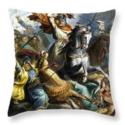 Charles Martel (c688-741) Throw Pillow