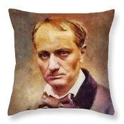 Charles Pierre Baudelaire, Literary Legend Throw Pillow