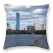 Charles River Boston Ma Crossing The Charles Throw Pillow