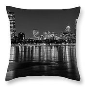 Charles River Boston Ma Prudential Lit Up Not Done New England Patriots Black And White Throw Pillow