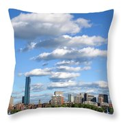 Charles River Cloud Stack Boston Ma Throw Pillow