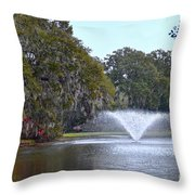 Charles Towne Landing Fountain Throw Pillow