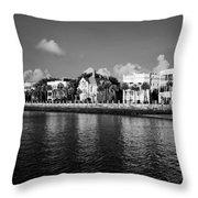 Charleston Battery Row Black And White Throw Pillow by Dustin K Ryan