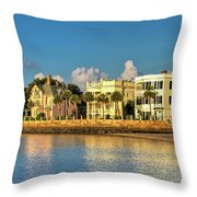 Charleston Battery Row Of Homes  Throw Pillow
