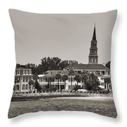 Charleston Battery South Carolina Sepia Throw Pillow