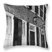 Charleston Brick Homes Throw Pillow