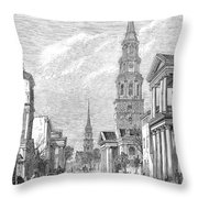 Charleston: Church, 1861 Throw Pillow