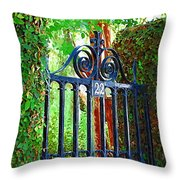 Charleston Gate 1 Throw Pillow