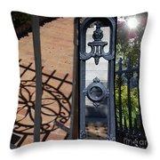 Charleston Gates Throw Pillow