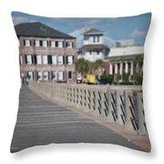 Charleston High Battery Side Walk Throw Pillow