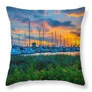Charleston Marina Throw Pillow