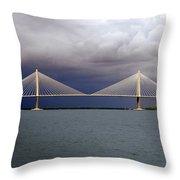 Charleston Ravenel Bridge Throw Pillow